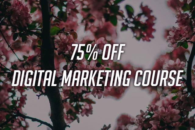 75% off Digital Marketing Course -LIMITED TIME OFFER